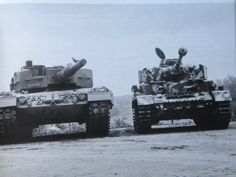 """Compare """"Leopard 2А1"""" with the old PzIV. Germany, 1980's."""