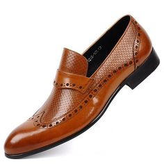 Wingtip Brogue Style Men Loafers Shoes