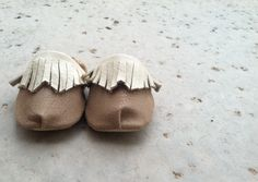 Leather & Fringe DIY moccasins for babies