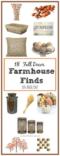 18 Fall Farmhouse Decor Items you can find right now on Amazon! Hello, 2 day shipping!