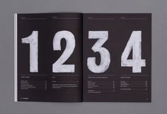 Textured numbers provide more life to this layout. Makes design less flat, more vibrant. *NEW* YouCanNow Issue Two - Alex Hunting