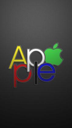 Apple Text Logo #iPhone #5s #wallpaper