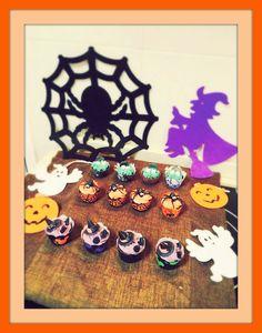 Cupcakes para todos: Halloween I: Minicupcakes de chocolate SIN gluten, SIN lactosa y SIN huevo.