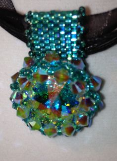Swavorski Rivoli Pendant Necklace Handmade by JewelrywithPassion, $38.00
