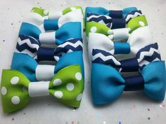 Check out this item in my Etsy shop https://www.etsy.com/listing/262409255/party-favor-bow-ties-set-of-12-matching