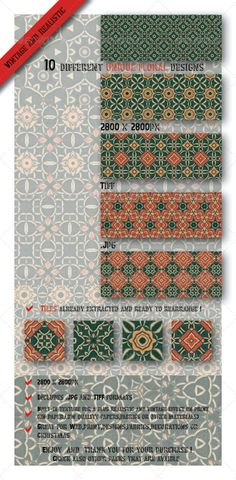10 Unique Decorative Floral Tile/Paper Patterns