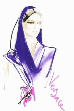 David Downton Couture spring/summer 2014 Illustrations (Vogue.com UK)