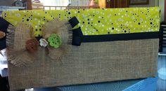 Burlap and Fabric covered diaper box