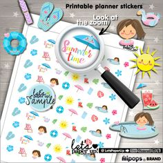 60%OFF - Summer Stickers, Printable Planner Stickers, Season Stickers, Planner Accessories, Vacation Stickers, Break
