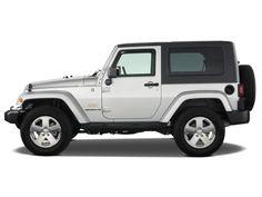 Silver Jeep Wrangler Sahara - 2 Door with Hard Top