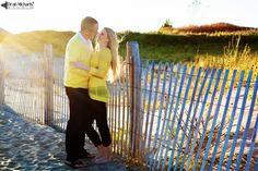 Jennifer & Patrick's October 2014 #engagement #portrait in Sandy Hook! (photo by deanmichaelstudio.com) #love #beach #fall #photography #deanmichaelstudio