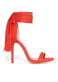 Fringe Pumps in Red | Necessary Clothing