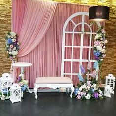 Still trending a photo booth ideas which is fresh and fab mordern vintage look with colours 9987874663 Backdrop Design, Diy Backdrop, Backdrop Decorations, Photo Booth Backdrop, Flower Backdrop, Wedding Stage Decorations, Paris Theme, Backdrops For Parties, Event Decor
