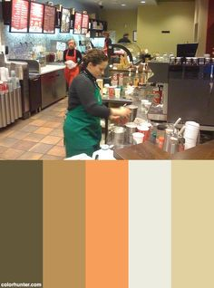 Starbucks Drinks Color Scheme
