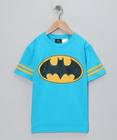 Another great find on #zulily! Blue & Yellow Batman Tee - Kids by Batman #zulilyfinds