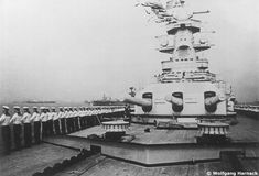The crew on parade on Admiral Graf Spee.
