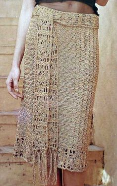 crochet falda larga - Buscar con Google