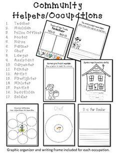 Community Helper & Occupations Packet (Kindergarten Social Studies)