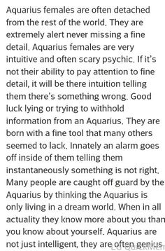 Aquarius ♒ woman More << I don't know about being intuitive with little details in my academics, but I do find the fine details in people's personalities. Astrology Aquarius, Aquarius Love, Aquarius Traits, Aquarius Quotes, Zodiac Signs Aquarius, Age Of Aquarius, My Zodiac Sign, Moon In Aquarius Woman, Aquarius Tattoo