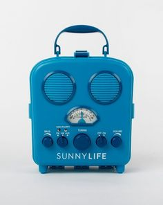 Looking for a fun gift for that beachgoer? This blue vintage looking Portable Beach Music Player Tripathi Doshi is a must have! Blue Beach, Summer Beach, Beach Bag Essentials, Beach Music, Sunnylife, Beach Gear, Sand And Water, Gift Guide, Home Goods