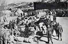 British troops unloading at Namsos, Norway, April 1940.