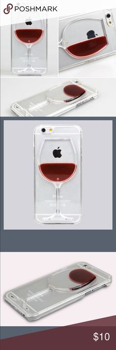 COMING SOON!i Phone 6/6s Wine Phone Case  COMING SOON! i Phone 6/6s Wine Phone Case  Features: -Case designed to look like a wine glass -Clear to show off phones design and color -Liquid can move around case for a realistic look  Keep it classy with this cute unique wine phone case  Accessories Phone Cases