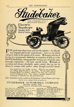Studebaker Electric Car $1250