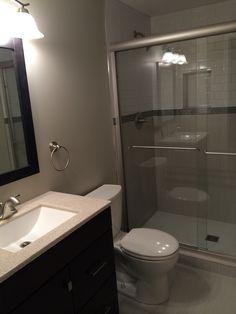 Finished basement bathroom - love.