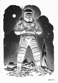 Ilustraciones Espaciales - OLDSKULL.NET #Ilustración