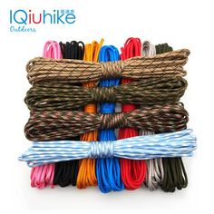 7 stand Cores Paracord for Survival Parachute Cord Lanyard Camping Climbing Camping Rope Hiking Clothesline Paracord Keychain, 550 Paracord, Paracord Bracelets, Survival Tools, Camping Survival, Parachute Cord, Clothes Line, Aliexpress, No Equipment Workout