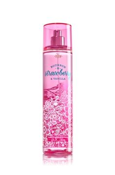 Bourbon Strawberry & Vanilla - Fine Fragrance Mist - Signature Collection - Bath & Body Works - Lavishly splash or lightly spritz your favorite fragrance, either way you'll fall in love at first mist! Our carefully crafted bottle and sophisticated pump delivers great coverage while conditioning aloe mist nourishes skin for the lightest, most refreshing way to fragrance!