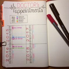 This grid for keeping track of when to get your checkups like a goddamn adult: | 29 Bullet Journal Layouts For Anyone Trying To Be Healthy