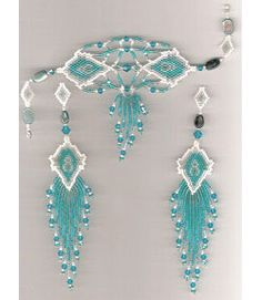Caribbean Mist Bracelet and Earrings, Sova Enterprises