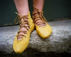 Soft Hand Made Leather Laceup Ballet High Tops by spirocreations
