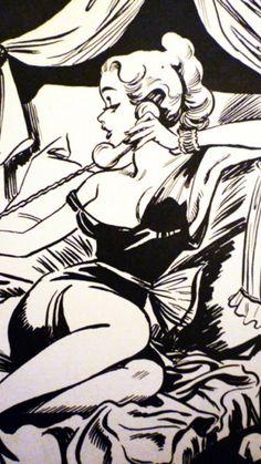 Masters of Illustrations - Arthur Ferrier: Pin Up and Cartoon Girls Pinup Art, Pop Art Vintage, Retro Art, Comics Vintage, Vintage Cartoon, Cartoon Kunst, Cartoon Art, Cartoon Girls, Arte Do Pulp Fiction
