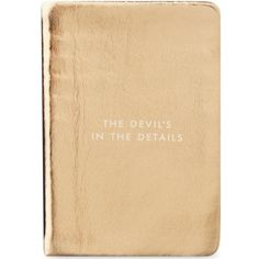 KATE SPADE NEW YORK The Devil's In The Details mini Take Note notebook (€25) ❤ liked on Polyvore featuring home, home decor and stationery