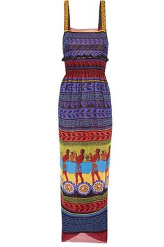 Mary Katrantzou - Hemera Printed Silk-georgette Dress - Purple - UK14