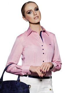 camisa feminina manga longa social carina Camisa Dudalina Feminina f6d8bceabf1