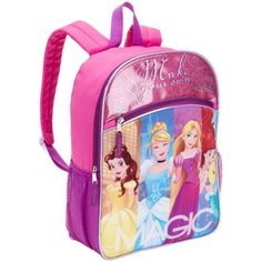 Disney Princess Full Size Backpack Pink Kids Girls New 15bc5ceb741db