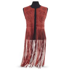 Sueded Fringe Vest - Women's Clothing & Symbolic Jewelry – Sexy, Fantasy, Romantic Fashions