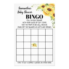 Baby Shower Bingo english spanish game card Baby Bingo, Baby Shower Bingo, Baby Shower Parties, Baby Shower Invitations, Shower Party, Bingo Games, Card Games, Guess Gifts, Sunflower Baby Showers
