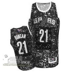 Camisetas Nba Baratas Ciudad Luces Swingman Duncan #21 Negro San Antonio Spurs  €21.9