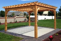 The pergola kits are the easiest and quickest way to build a garden pergola. There are lots of do it yourself pergola kits available to you so that anyone could easily put them together to construct a new structure at their backyard. Deck Pergola, Cedar Pergola Kits, Diy Pergola Kits, Building A Pergola, Small Pergola, Pergola Attached To House, Metal Pergola, Cheap Pergola, Wooden Pergola