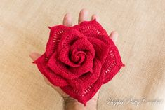 Large Crochet Rose by Happy Patty Crochet