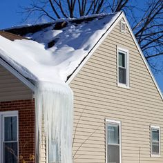 Quick Tips for Deicing Your Roof, Sidewalk, and Pipes - Popular Mechanics Roof Leak Repair, Ice Dams, Outdoor Projects, Outdoor Decor, Roofing Contractors, Decorating Blogs, Interior Decorating, Home Hacks, Home Improvement Projects