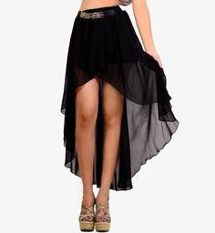 edgeLook - Trendy Fashion Women's Clothing / Clothes, Trendy Fashion Jewelry, Trendy Cute Outfits - Hottest Tops, Dresses, Denim and More - High-Low Hem Skirt