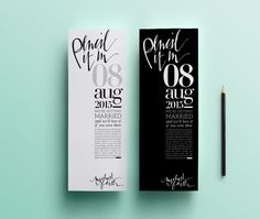 Editorially-inspired save-the-date which doubles up as a bookmark!