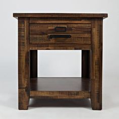 Cannon Valley End Table Tall End Tables, Modern End Tables, End Table Sets, Wood End Tables, End Tables With Storage, Power Reclining Loveseat, Salvaged Wood, Power Recliners, Modern Rustic Interiors