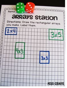Awesome arrays games and math centers