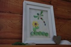 Dragonfly Beach Glass Art by lilypadkreations on Etsy, $30.00